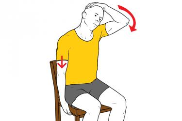 forma de realizar el ejercicio de estiramiento de trapecio